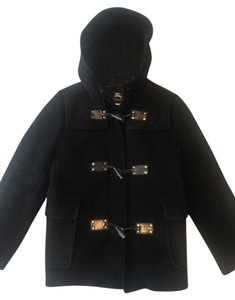 Burberry Wool Hood Toggle Classic Coat