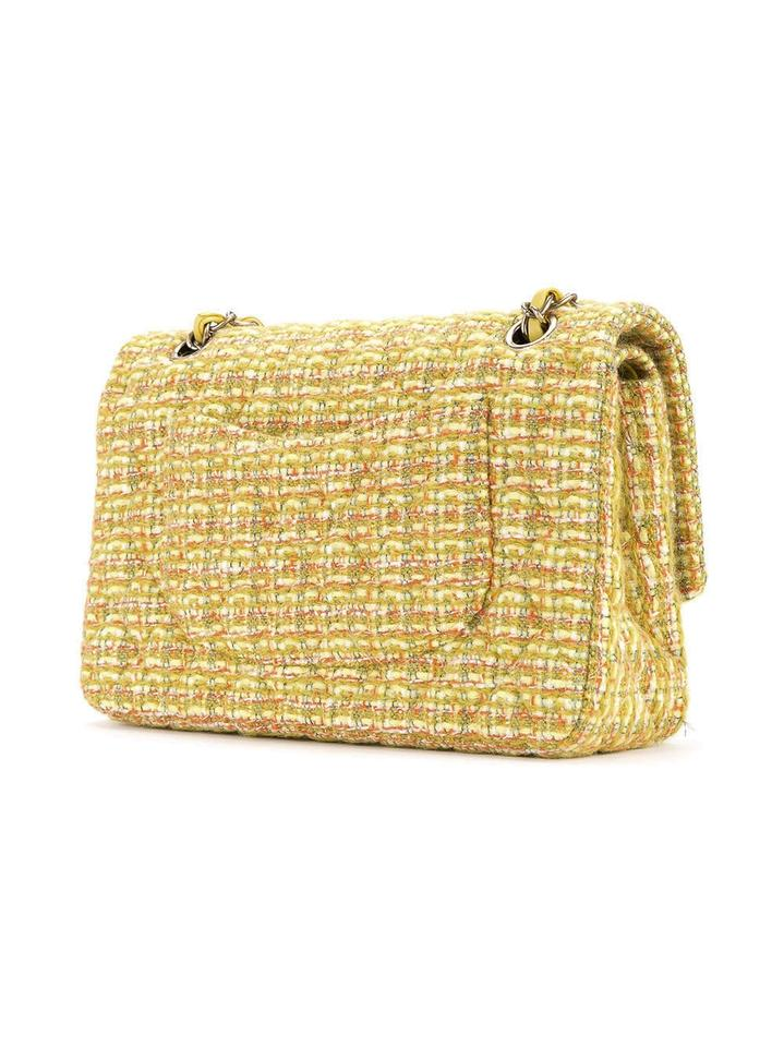babf1719f597d0 Chanel Classic Flap 2.55 Reissue Fall 2014/15 Yellow Tweed Shoulder ...