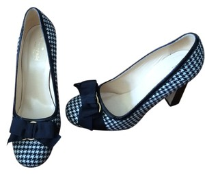 Kate Spade Houndstooth Patent Leather Black & White Pumps