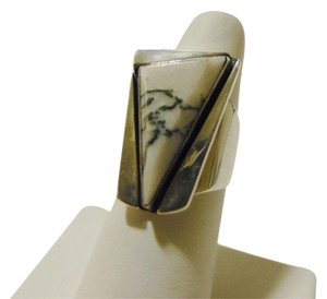 Mine Finds by Jay King Mine Finds by Jay King DTR/Signed .925 Sterling Silver Black & White Gemstone Ring Size 9