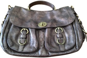 Coach Leather Bronze Satchel in Brown - item med img