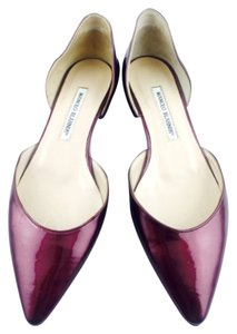 Manolo Blahnik Purple Flats