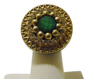 Other Green Enamel Ring Stretch Ring Fits Size 7 to 8