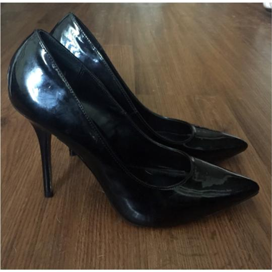 Rock & Republic Patent Faux Patent Patent Leather Leather Pointed Toe Stiletto Black Pumps