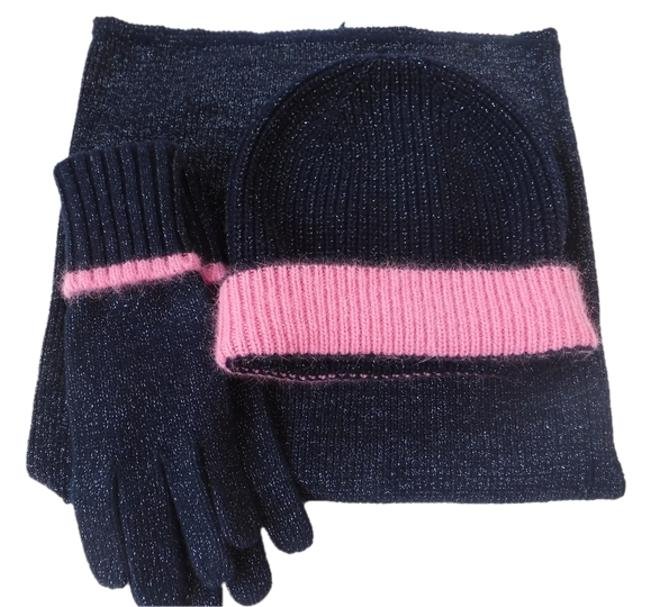 Juicy Couture Blue and Pink Infinity Gloves Scarf/Wrap Juicy Couture Blue and Pink Infinity Gloves Scarf/Wrap Image 1