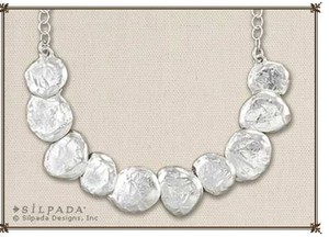Silpada Texture Sterling Silver Disc Necklace