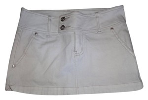 YMI Jeans Mini Skirt white