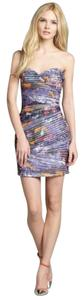 BCBGMAXAZRIA Bodycon Figure Hugging Mini Dress