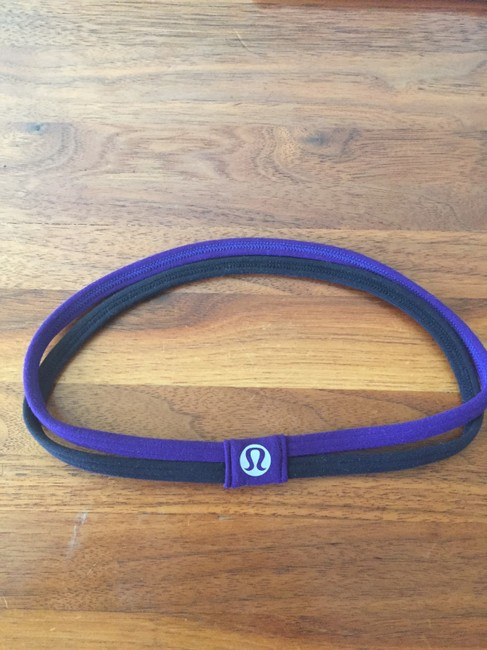 Item - Purple And Black Double Skinny Head Band - Early Years - Discontinued Activewear Gear Size OS (one size)
