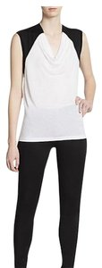 BCBGMAXAZRIA Top WHITE/BLACK