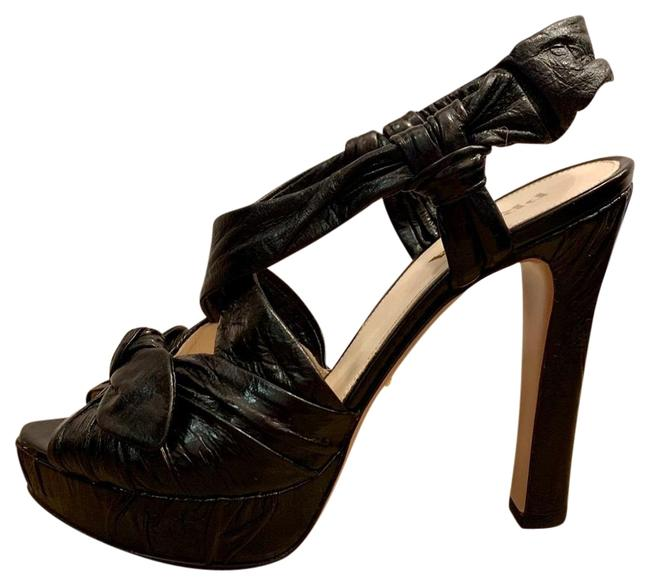 Prada Black Calzature Donna Platforms Size US 7.5 Regular (M, B) Prada Black Calzature Donna Platforms Size US 7.5 Regular (M, B) Image 1