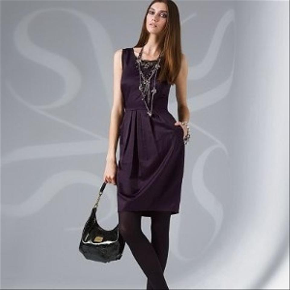 Simply Vera Dark Purple Knee Length Night Out Dress Size 4 S Tradesy