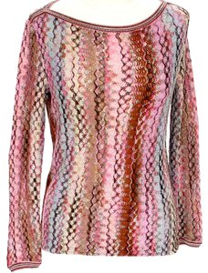 Missoni Bost Neck Striped Knit Sweater