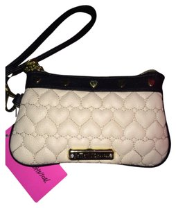 Betsey Johnson Wristlet in bone