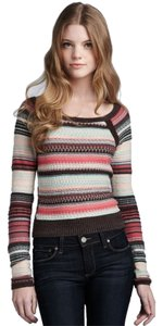 Free People Striped Cotton Linen Sweater