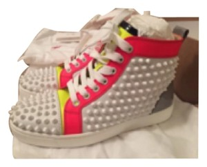 Christian Louboutin neon green and pink with white Athletic