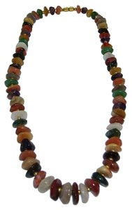Other Natural Gemstone Nugget Necklace