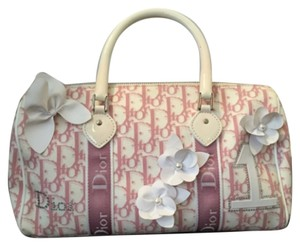 Dior Satchel in Pink And White