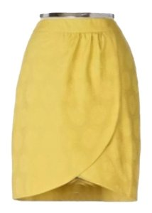 Anthropologie Skirt Gold