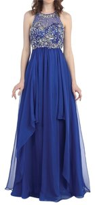 Other Plus Size Beaded Chiffon Prom Dress