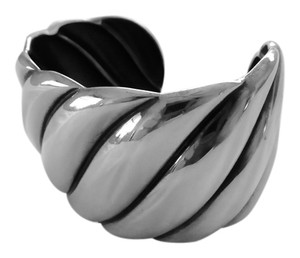 David Yurman David Yurman Sterling Silver Wide Sculpted Cuff