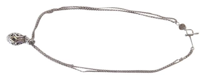 John Hardy Sterling Silver with Amethyst Double Chain Necklace John Hardy Sterling Silver with Amethyst Double Chain Necklace Image 1