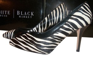 White House | Black Market New With Box Hair Calf Night Out Date Night Multi -Zebra Pumps