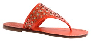Tory Burch Amara Flat Thong Thong Orange Sandals