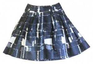 Express Skirt Grey, Beige, Black, White, Navy Blue Pattern