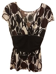 Studio M Top Black, Brown and Cream