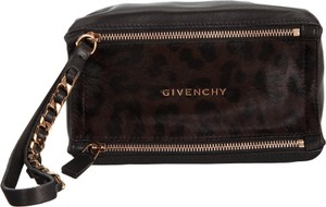 Givenchy Rose Gold Pony Hair Wristlet in Black
