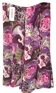 Chico's Maxi Skirt Purple Floral