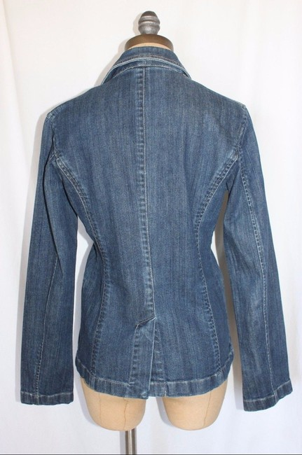 Ann Taylor Blazer Stretch Womens Jean Jacket