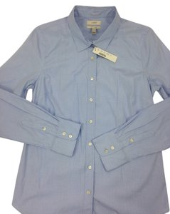 J.Crew Stretch Perfect Button Down Shirt Blue