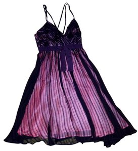 French Connection short dress Black and pink Silk Sheer Bow New With Tags Femininite on Tradesy