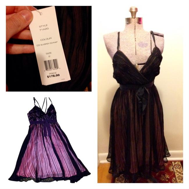 French Connection short dress Blk/brgh schnap Silk Sheer Bow New With Tags Femininite on Tradesy