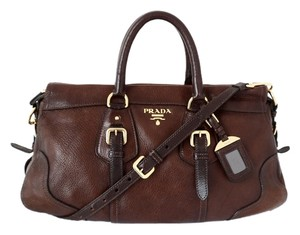 Prada Satchel in Cacao Degraded Brown