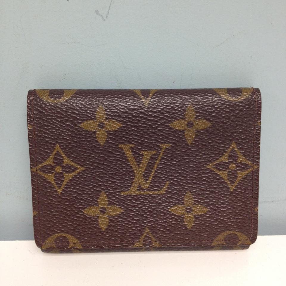Louis Vuitton #2889 Monogram Business Cards Credit Card Id Holder ...