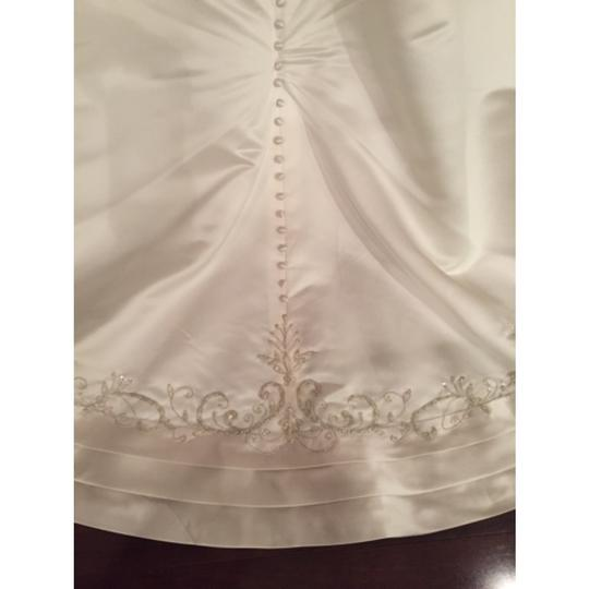 Mori Lee Pearl/Cafe Satin 948 Traditional Wedding Dress Size 6 (S)