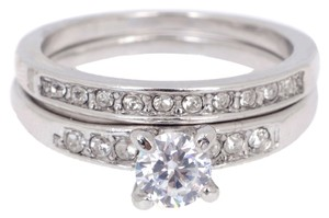 engagement Sz 7 White Gold 18k Engagement Ring SET
