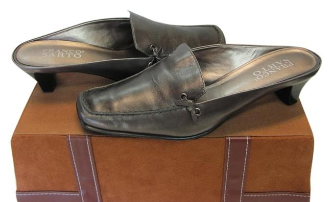 Franco Sarto Grayish/Silver Leather Very Good Condition M Mules/Slides Size US 6 Regular (M, B) Franco Sarto Grayish/Silver Leather Very Good Condition M Mules/Slides Size US 6 Regular (M, B) Image 1