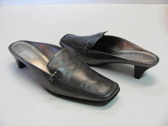 Franco Sarto Leather Very Good Condition Size 6.00 M Grayish/Silver Mules