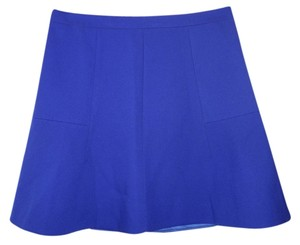 J.Crew A-line Fluted Mini Skirt Royal blue