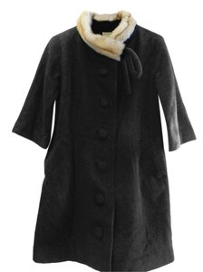 Anthropologie Faux Fur Pea Coat