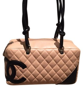 Chanel Satchel in Beige/black