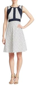 Ivanka Trump short dress Ivory & Admiral Blue on Tradesy