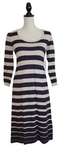 Boden short dress Purple and Beige Stripe on Tradesy