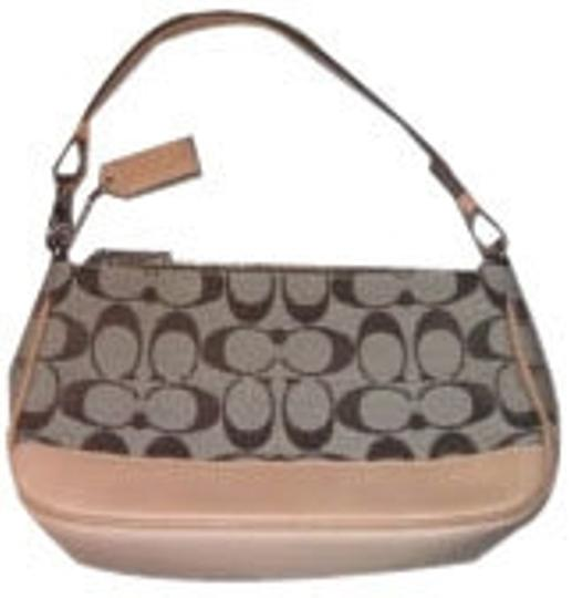 Preload https://item3.tradesy.com/images/coach-small-purse-with-shoulder-strap-tan-and-brown-baguette-6297-0-0.jpg?width=440&height=440