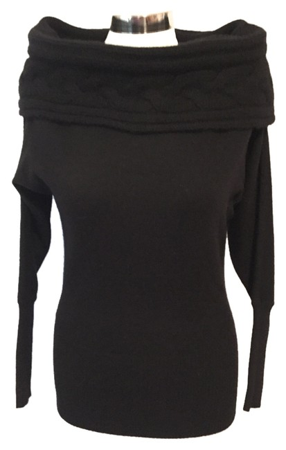 Preload https://img-static.tradesy.com/item/6297667/autumn-cashmere-black-dolman-sleeve-sweaterpullover-size-6-s-0-0-650-650.jpg