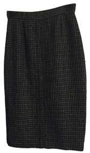 Chanel Skirt Black with tweed detail